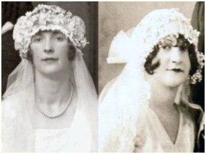 1928 Wedding headdresses in fashion history on fashion-era.