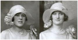 Old Wedding photos - The floppy asymmetry of the hat is suggestive of the period 1927-1932 in particular.