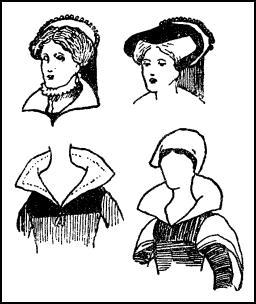 Queen Mary Ladies - Neat Linen Caps C1550