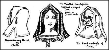 Early Tudor Caps, Bonnets, Hats, Headdresses, Coifs