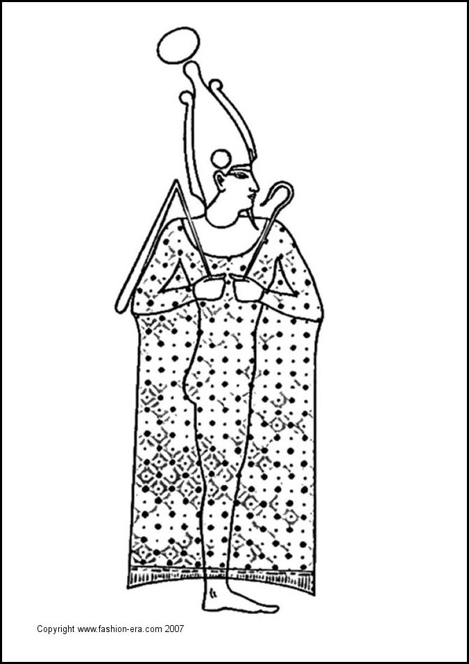 free coloring pages of ancient egyptian clothing