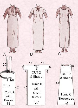 Fancy Dress - Amateur Dramatics - 3 Free Easy Egyptian Costume Pattern Guides for Tunics  sc 1 st  Fashion Era & Ancient Costumes - Egyptian Dress Costume Plates 1 The Tunic