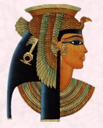 Cleopatra on papyrus