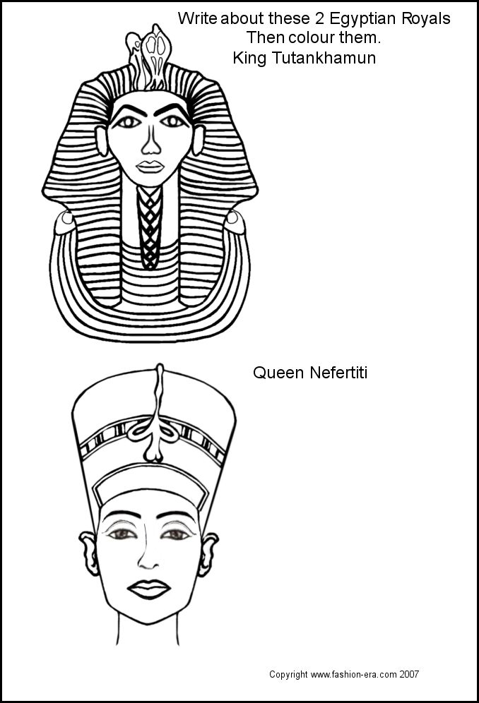 Egyptian Mask Printable Templates http://www.fashion-era.com/ancient_costume/egypt_king_tut_colouring_pictures.htm