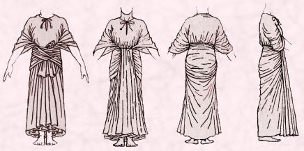 Egyptian Rectangle Open Robe With Sash. Fancy Dress Costume Tip - For non sewers this pattern right may be a wonderfully easy pattern choice.