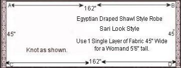Egyptian models S) and T) below both use this sari style pattern guide right