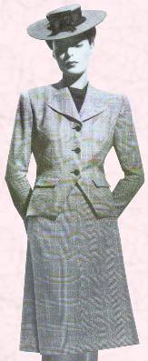 c20th fashion history 1940s utility clothing 1940s