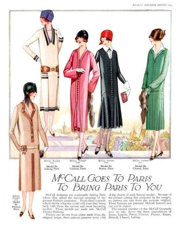 McCalls August 60 Fashion History Magazine Images Fashion Stunning 1920s Dress Patterns