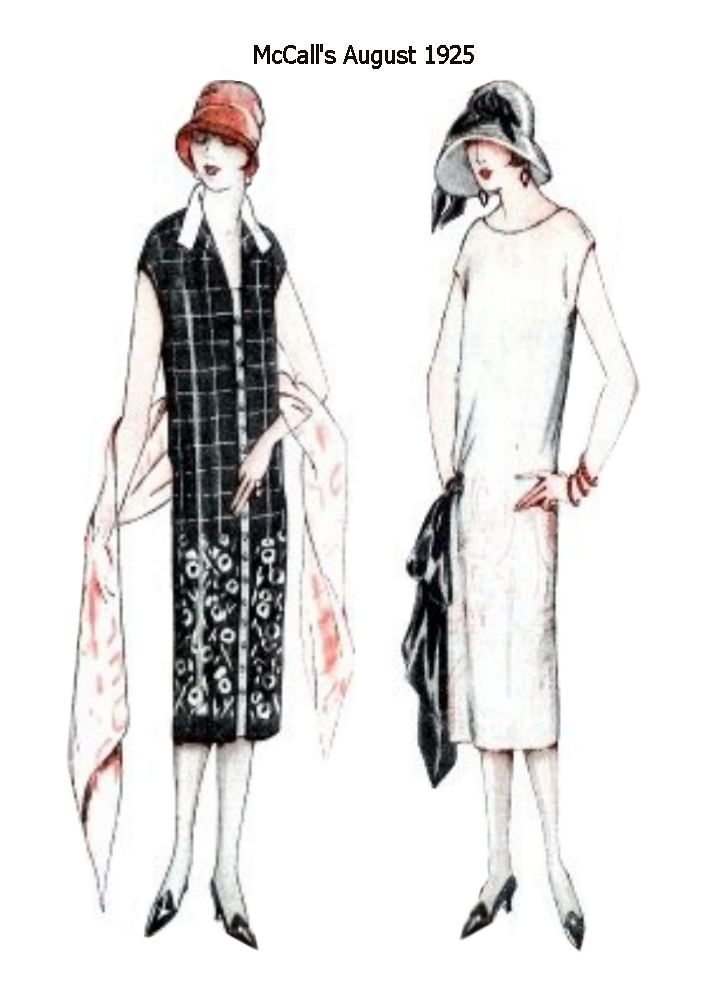 Slim Column Dresses In Mccall S Pattern Images August 1925