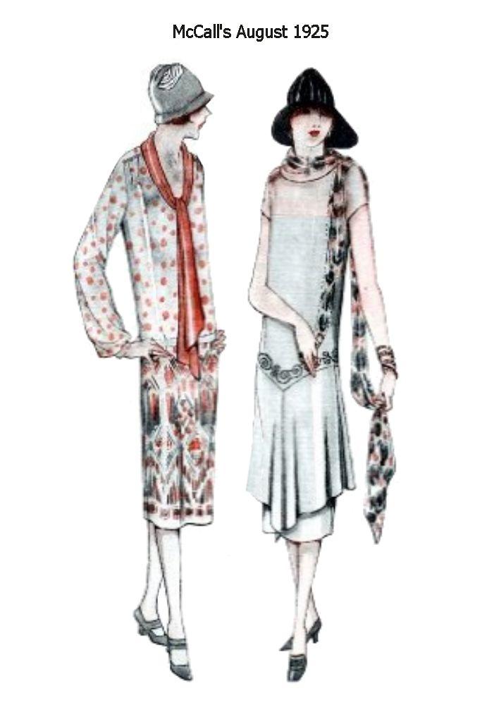 McCalls August 1925 Fashion Hi...