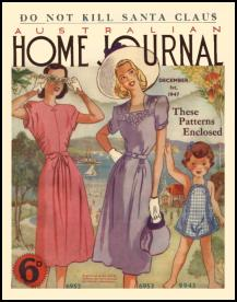 Mid Late 1940s Dressmaking The Australian Ladies Home Journal 1947