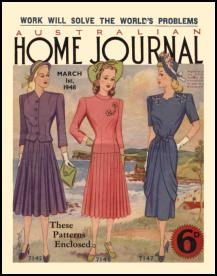 Mid Late 1940s Dressmaking The Australian Ladies Home Journal 1948