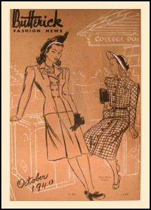 1940-1945 Picture of McCall Magazine Pattern Cover 1940 Utility Suits