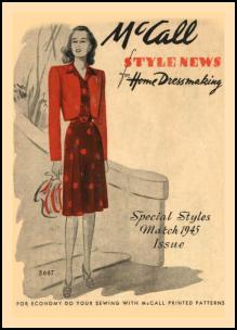 1945-1950 McCall Magazine Dressmaking Pattern Design Covers 1945
