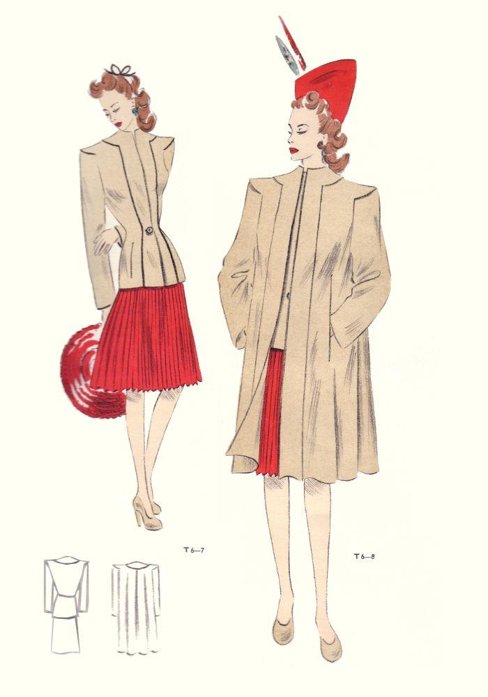 1940s fashion history 1946 tailleur trade fashion plates free