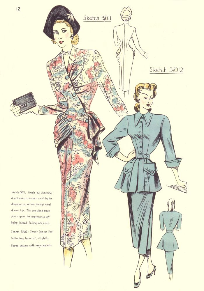 1940s Costume History 1948 Free Pattern Cutting Fashion Pictures 1