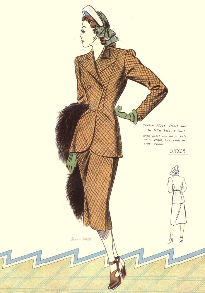1940's Designer Clothing For Women c Fashion Designs