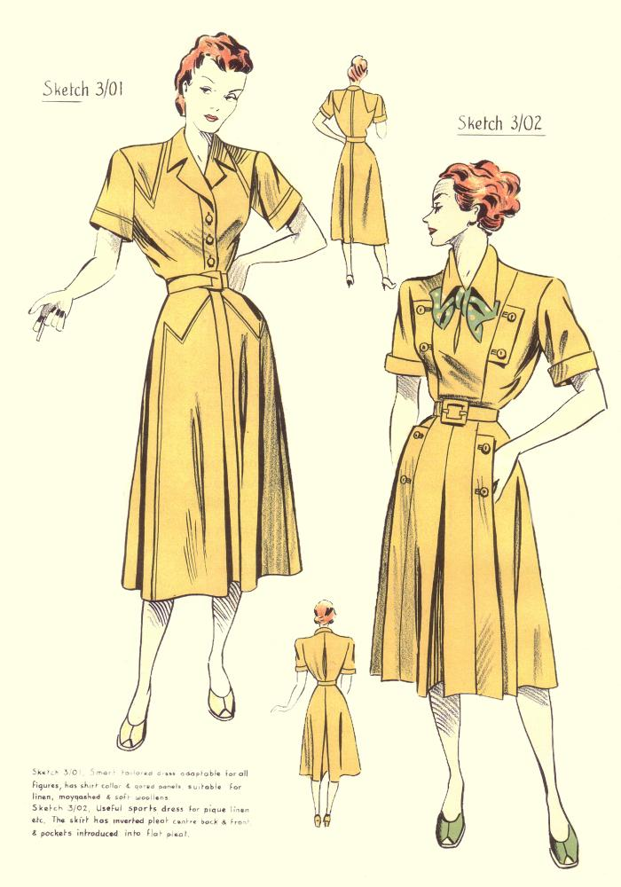 1940's Designer Clothing For Women and