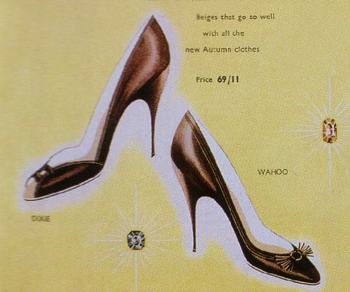 Stiletto Heeled Pointed Toe 1950 sShoes