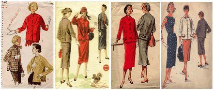1950s Dressmaking Patterns Glamour Fashion Fifties Sewing Pattern