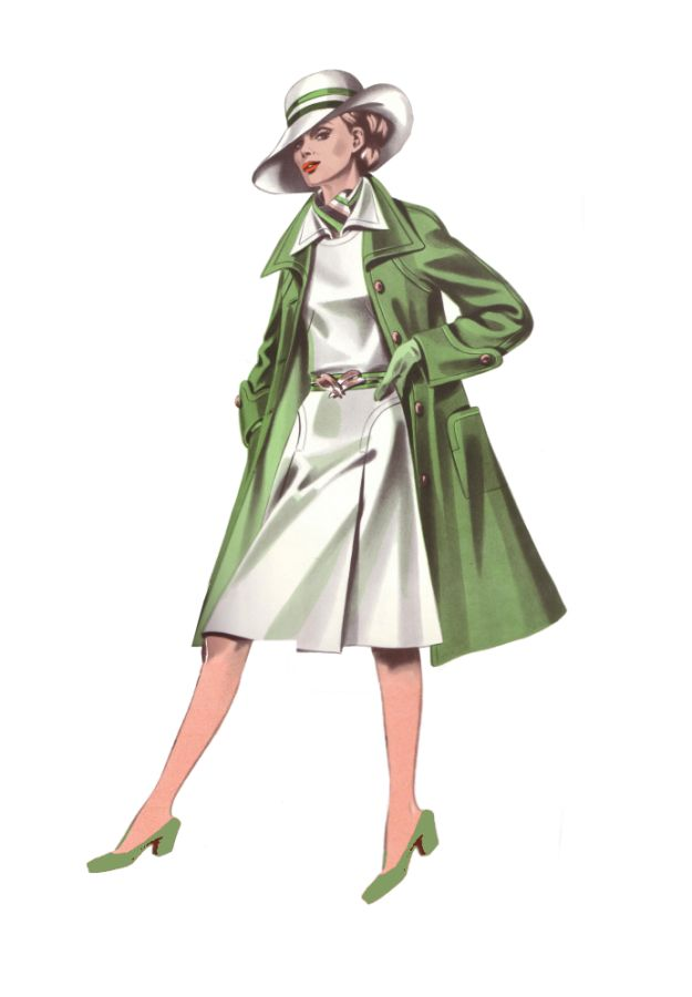 Trouser suits came into their own in the 1970s. Women were allowed to wear trousers in offices for the first time as long as it was a formal two piece