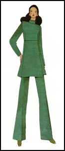 1970s Tunic trouser suit - 1971