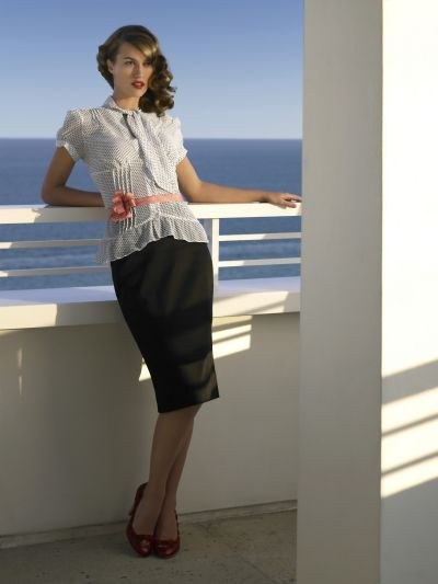 5825bd54c7fc Dorothy Perkins Spring Summer 2006 White shirt with black polka dots £25   € 40