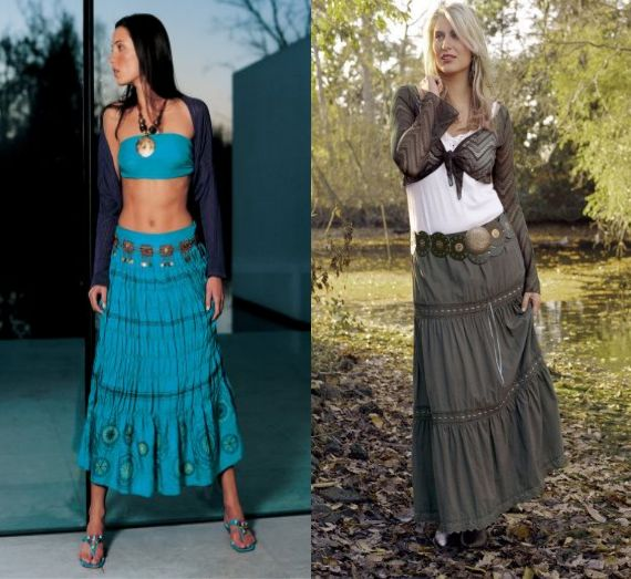 Gypsy Boho Women's Clothing Two different Boho gypsy