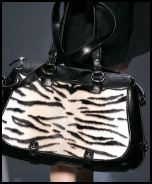 Celine bag with black and white animal markings