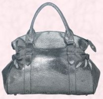 This metallic finish bag is Debenhams Red Herring range silver snake music bag �25.