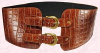 Dorothy Perkins - Tan double buckle belt �12/�20.