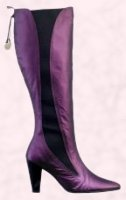 These �90 purple suede fashion boots right, are from the Georgina Goodman range for Evans.