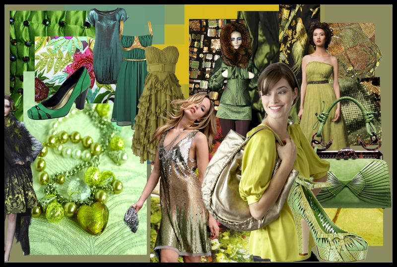 2cd015967 Mood Board Autumn Winter 2007/8 - Green fashion tones range from sea green  and