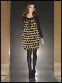 French Connection Campaign 07 - Gold spot dress �95, black body �30, black suede ankle boots �90
