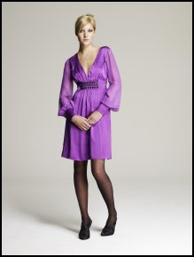 Light purple dress from Monsoon.  Monsoon Christmas Collection 2007 Alex Dress - �65/�99 - In Store October - Christmas Collections 2007.