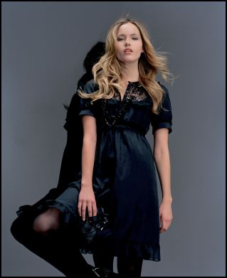 Black Lace Yoke Dress £38/€62 from the Gothic Angels range at Miss Selfridge.