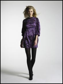 Purple print empire tunic dress from New Look.