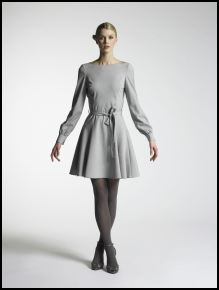 New Look Autumn/Winter 07/08 Collection - Womenswear Visionary, Grey dress £30/43.50€, Black tights £3/4€, Black shoes £25/36€.