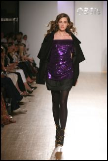 Oasis - For evening, expect to see lots of patent, high shine and wet look fabrics as Oasis does eighties. Pour yourself into bandage minis that give a nod to Herv� Lerger or release your inner child through cute playsuits worn with mannish jackets.  Purple is a hot colour for autumn 2007.