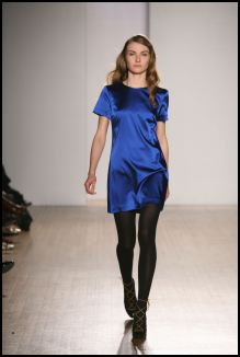 Cobalt blue satin dresss from Oasis.