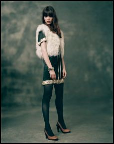 Topshop - Black shift dress with sequin �60/88, cream Shearling gilet �75/�110