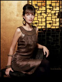 Principles Autumn Winter 2007 - main collection - Gold warrior neck dress �75/�115.