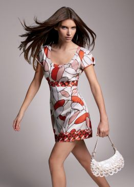 Latest Fashion Trends For Spring 2007 Summer Cream And Orange Bud Print Shift Top GBP45 From The Main Range Of