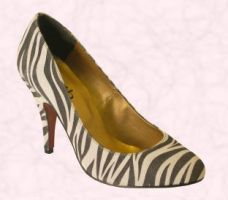 Ladies Zebra Print Shoes