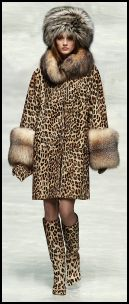 Blumarine Leopard Print Coat and Boots for Autumn - 2008 Fashion History.