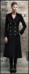 Black Double Breasted Military Coat - 2008 Fashion History.
