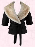 Debenhams Autumn/Winter 2008 Womenswear from Betty Jackson. Black fur collar jacket �85/�132.