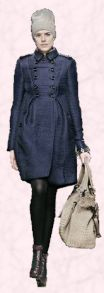 Navy Burberry Coat - 2008 Fashion History.