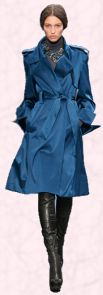 Blue Coat by Celine - 2008 Fashion History.