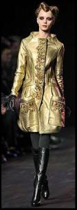 Christian Lacroix Gold Coat - 2008 Fashion History.